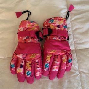 N'Ice Caps Little Girls Waterproof Snow Gloves